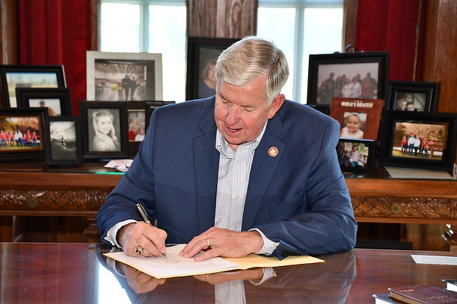 Missouri Governor Mike Parson signs the supplemental budget on May 13, 2021. - GOVERNOR'S OFFICE