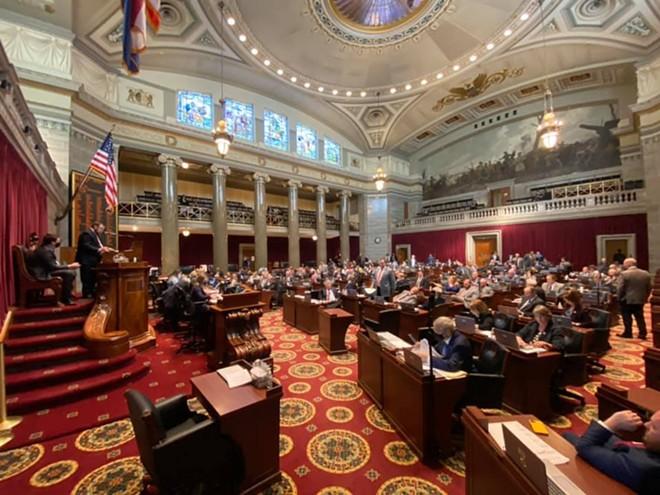 The Missouri House of Representatives. - TIM BOMMEL/HOUSE COMMUNICATIONS