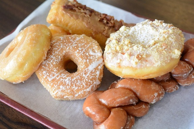 Old Town Donuts has been using the same recipes since it opened in 1968. - ANDY PAULISSEN