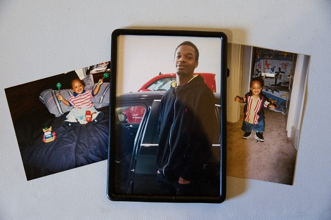 Childhood family photos of Cortez Bufford are seen on May 16, 2021, in St. Louis. - MICHAEL B. THOMAS FOR THE INTERCEPT