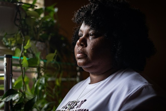 Tammy Bufford poses for a portrait at the Bufford home on May 16, 2021, in St. Louis. - MICHAEL B. THOMAS FOR THE INTERCEPT
