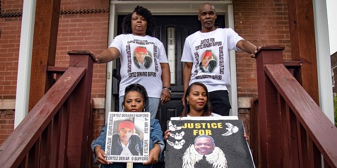 The Bufford family poses for a portrait at their home on May 16, 2021, in St. Louis. - MICHAEL B. THOMAS FOR THE INTERCEPT