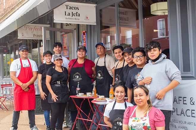 The family behind Tacos La Jefa. - MABEL SUEN