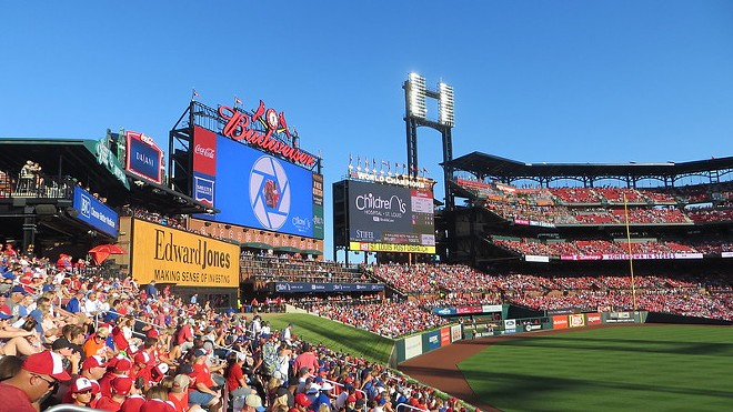 A packed Busch Stadium circa 2019 — a vision the team is hoping fans will return to. - IMAGE VIA FLICKR/DAVID WILSON
