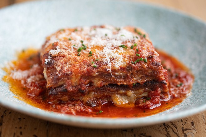 That eggplant parmesan is so good it's been shipped internationally. - MABEL SUEN