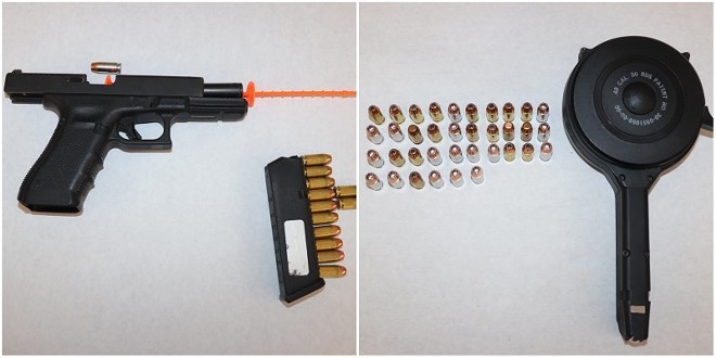 The gun and magazine St. Louis police recovered from the South Jefferson shootout. - ST. LOUIS METROPOLITAN POLICE
