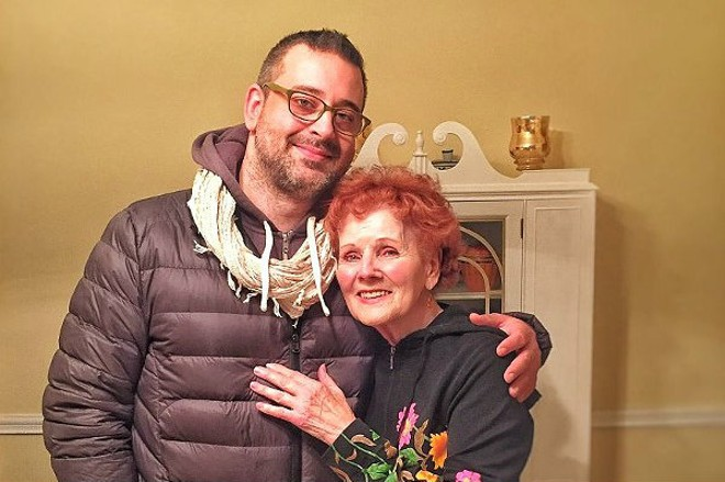 """When we asked Eric Hall for a photo to accompany this story, he sent us this one of him with his grandma, whom he described as """"a perfect person."""" - PHOTO COURTESY OF THE ARTIST"""
