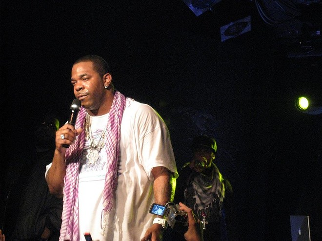Busta Rhymes performing at the Knitting Factory in 2008. - MATT J CARBONE
