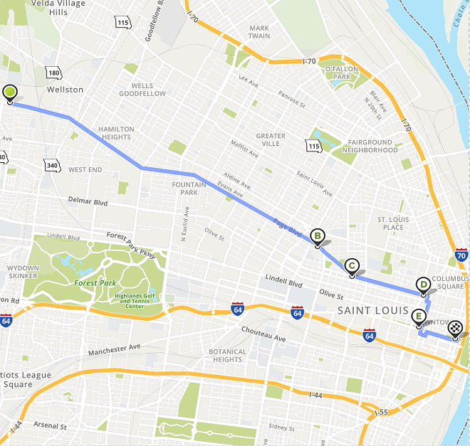 The route map for the Juneteenth Community Ride for Freedom. - MARY GOODMAN