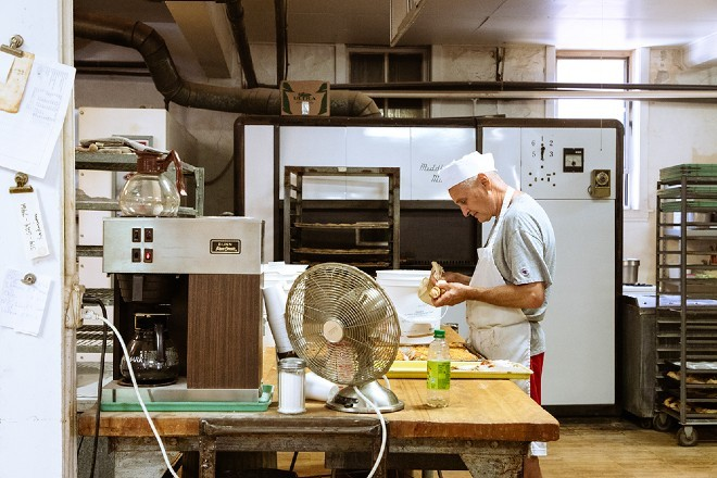 Chris Gambaro makes the bakery's offerings by hand, with the same recipes his father and grandfather used. - NYARA WILLIAMS