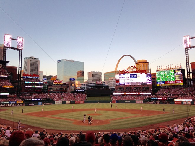 Some will be enjoying this view for free after getting their COVID-19 shot at Busch Stadium this week. - DOYLE MURPHY
