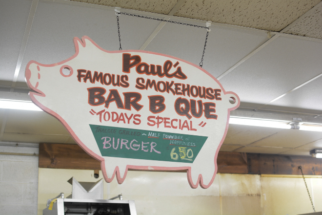 In addition to its grocery and butchery offerings, Paul's Market has found success in hot foods, like its burgers and barbecue. - ANDY PAULISSEN