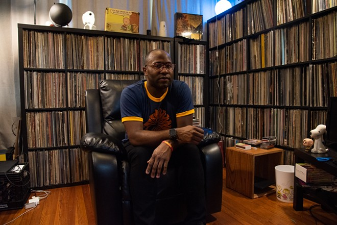 """Orlandez Lewis of Vintage Vinyl: """"It's like Christmas. For me, it really is just a beautiful day."""" - ERIN MCAFEE"""