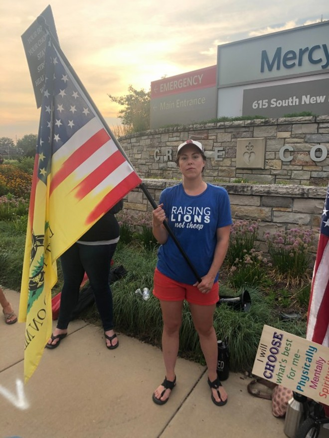 Meaghan Hagen organized a protest against a Mercy Hospital employee vaccine mandate. - VICTOR STEFANESCU