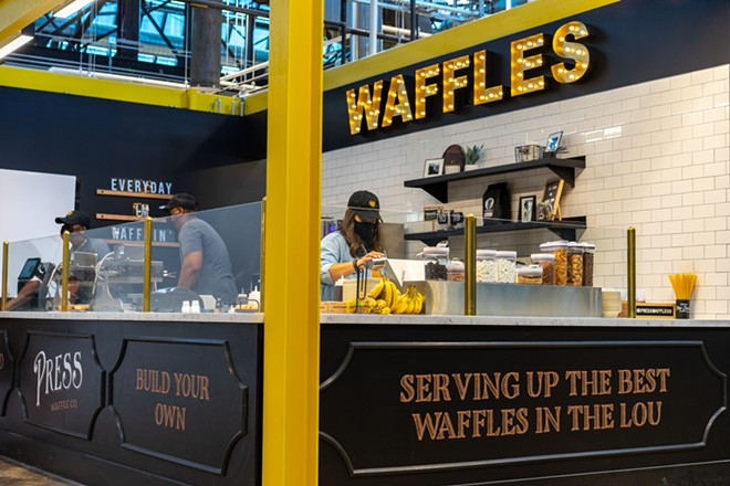 Press Waffle Co. is one of the eleven opening vendors at the food hall. - HOLDEN HINDES