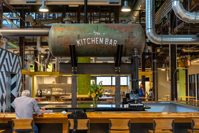The Kitchen Bar is currently open during dinner hours, with daytime and late-night hours to follow. - HOLDEN HINDES