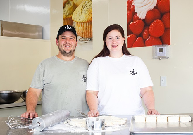 Co-owners Michael Shadwick and Meredith Gibbons Shadwick have perfected their biscuits and gravy recipe. - MABEL SUEN