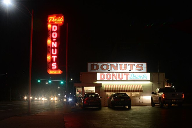 The Donut Drive-In sign has been a beacon for St. Louis for decades. - ANDY PAULISSEN