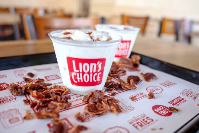 """The """"Heart Stopping Bacon Concrete"""" is available now through September 13th at area Lion's Choice stores. - COURTESY OF LION'S CHOICE"""