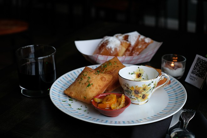Chef Tony Collida's menu features Midwest and Southern food, such as beignets. - PHUONG BUI