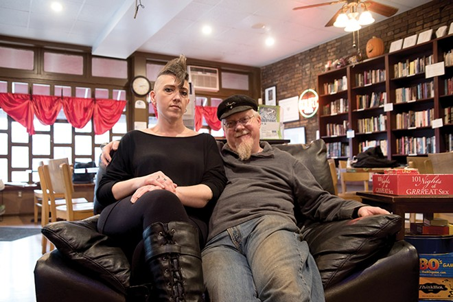 Shameless Grounds owners Michelle and Andrew Mueller run the sex-positive sanctuary in Benton Park. - TRENTON ALMGREN-DAVIS