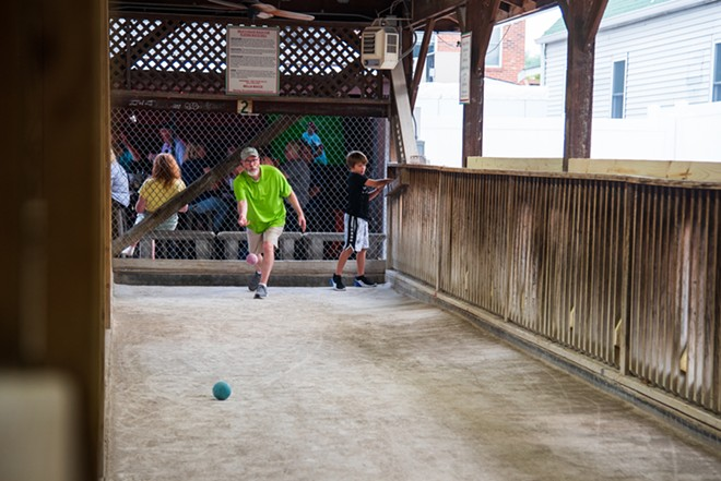 Play some bocce at Milo's Tavern, or just sit back and watch the neighborhood experts take the court. - ERIN MCAFEE