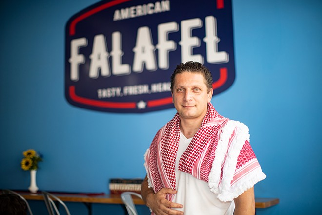 American Falafel owner Mohammed Qadadeh is doing what he was meant to do. - MABEL SUEN