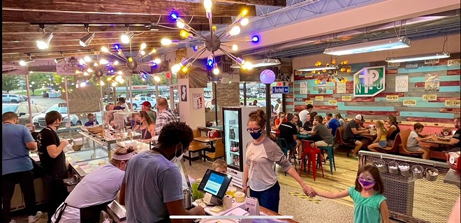 The new Boardwalk Waffles & Ice Cream features the same vibrant aesthetic as the original Maplewood store. - COURTESY ERIC MOORE