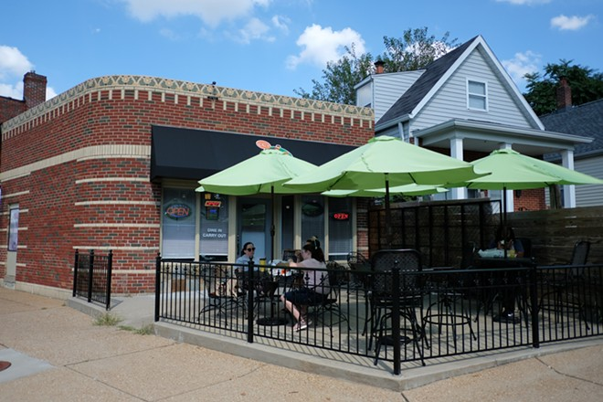CC's Vegan Spot has a large, outdoor patio. - PHUONG BUI