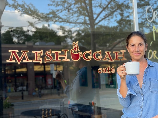 Jen Kaslow is looking for a new owner to take over Meshuggah Cafe. - JESSICA MILLNER
