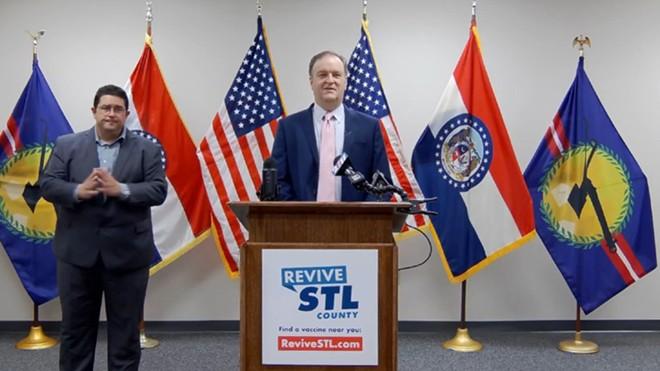 St. Louis County Executive Sam Page announces a new mask mandate. - ST. LOUIS COUNTY EXECUTIVE SAM PAGE / FACEBOOK LIVE