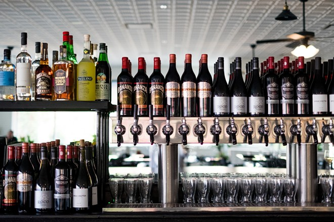 The bar features wine, Six Mile Bridge beers and several cocktails. - PHUONG BUI