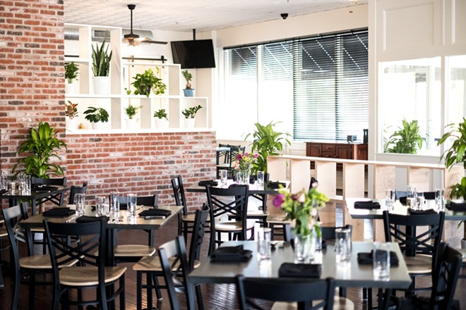 Botanica's chic, light-filled dining room is an inviting space. - PHUONG BUI