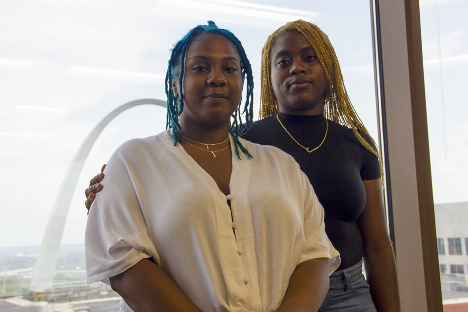 """Wesley Bell's office claims Deja Holland and Najae Jordan (right) assaulted officers on August 11, 2016. """"You guys have been telling the story and narrative for so long,"""" Jordan says. """"Just let us tell our side."""""""