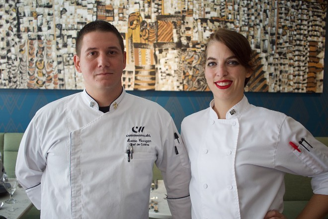 Executive chef Scottie Corrigan and sous chef Sierra Eaves brought to life Commonwealth's menu. - CHERYL BAEHR