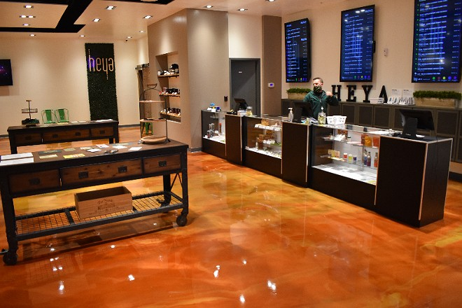 Heya's sleek sales floor is well-stocked with cannabis products and accessories. - DANIEL HILL