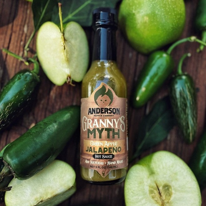Anderson & Son Pepper Co. launches its Granny's Myth label today. - COURTESY OF ANDERSON & SON PEPPER CO.