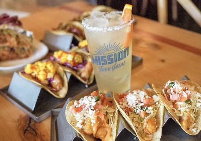 Taco specials begin at $5. - COURTESY MISSION TACO JOINT