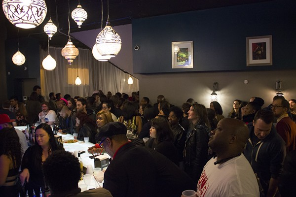 Supporters of Tishaura Jones watch the election results coming in. - PHOTO BY DANNY WICENTOWSKI