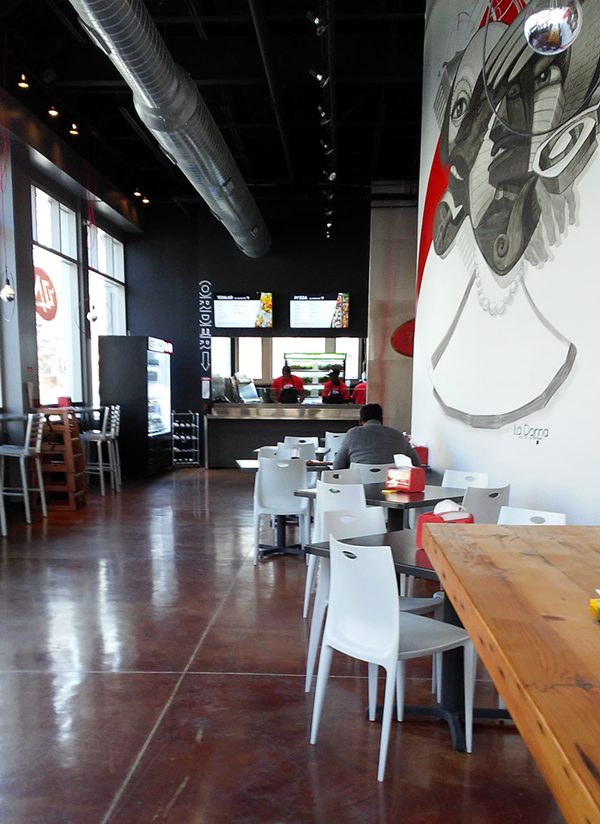 'ZZA features a spacious layout for in-store eating or takeout. - PHOTO BY NICK FIERRO