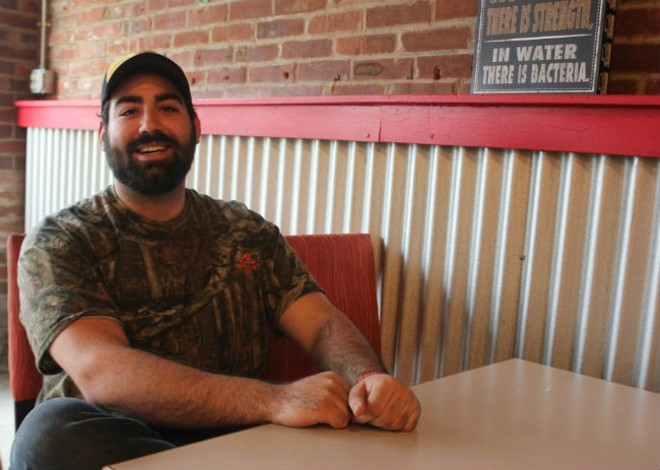 Michael Makhamreh got a loan from his mom and opened the business in mid-December. - PHOTO BY SARAH FENSKE
