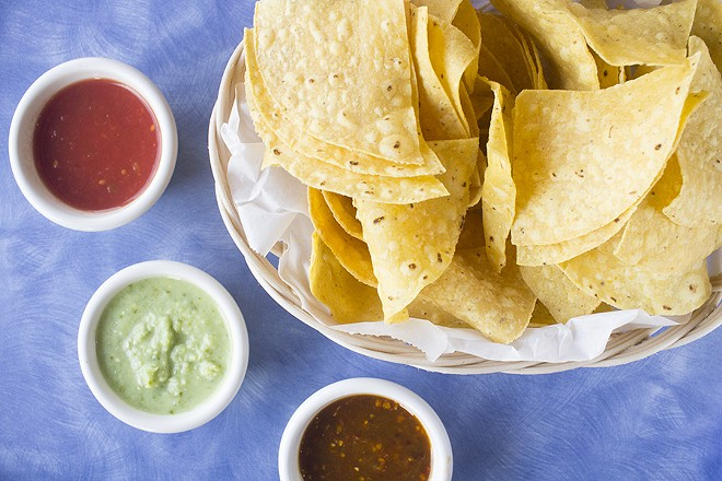 Every meal comes with chips and salsa. - PHOTO BY MABEL SUEN