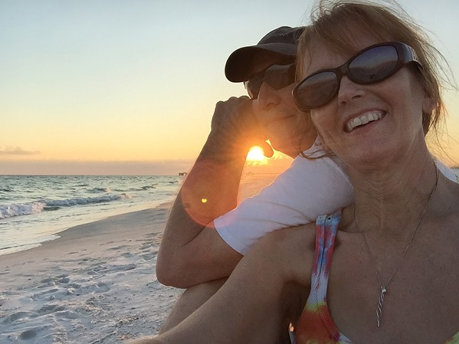 Trisha Barnes and her husband Bruce have been traveling the country in a camper since 2010. - COURTESY OF TRISHA BARNES