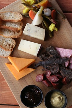 Meat and cheese tray - PHOTO BY JOHNNY FUGITT