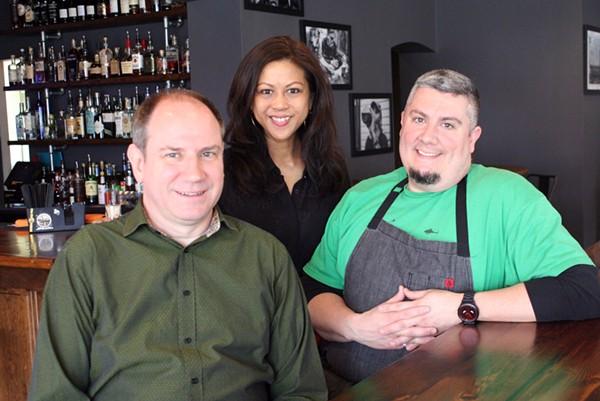 Owners Stanley and Arlene Brown with co-owner/chef Joe Hemp V. - PHOTO BY JOHNNY FUGITT