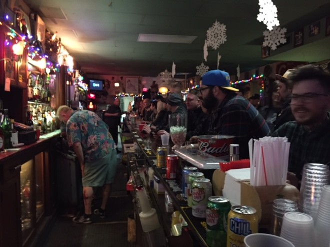 The bar was busy - PHOTO BY JAIME LEES