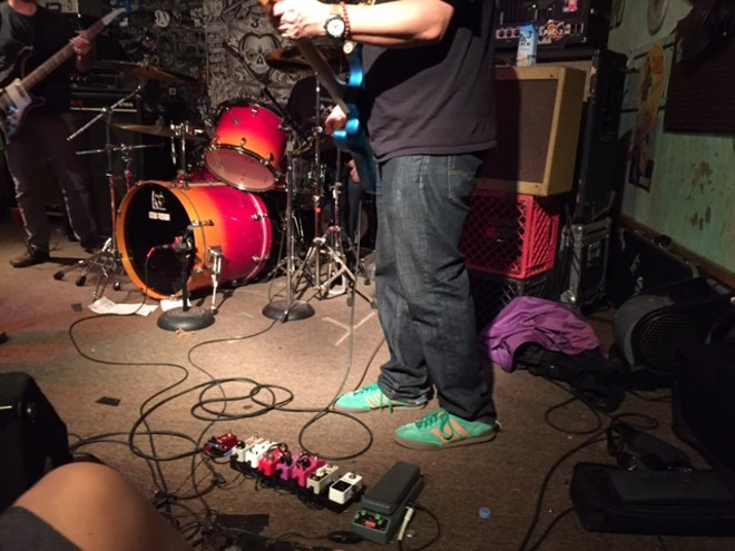 J Mascis digs gear - PHOTO BY JAIME LEES