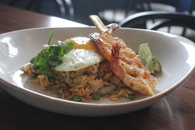 House-fried rice comes with chicken or shrimp. - PHOTO BY SARAH FENSKE