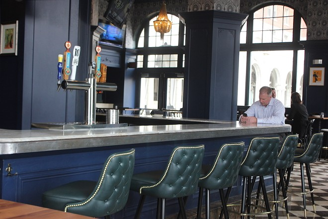 The Chase Club's renovations have given it a cool pallette of striking blue and green tones. - PHOTO BY SARAH FENSKE