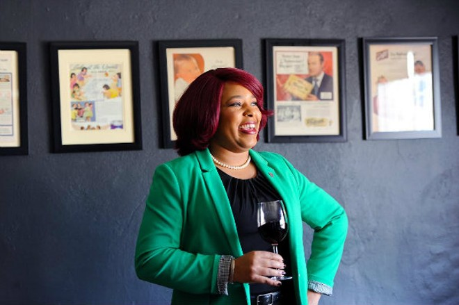 Alisha Blackwell makes wine accessible at Reeds American Table. - HOLLY RAVAZZOLO